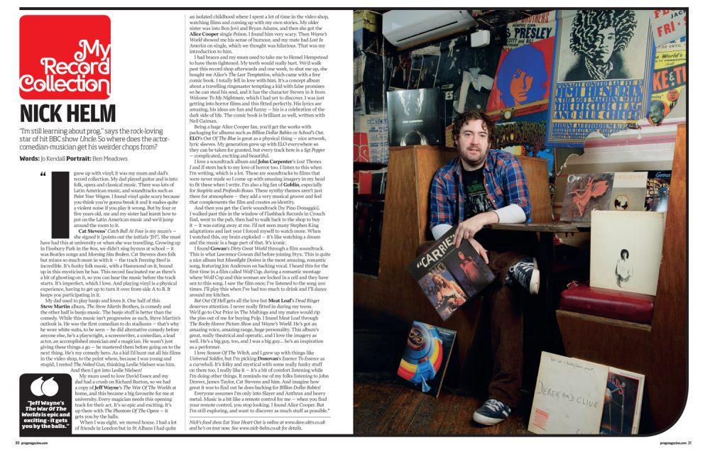 Nick Helm for Prog Magazine