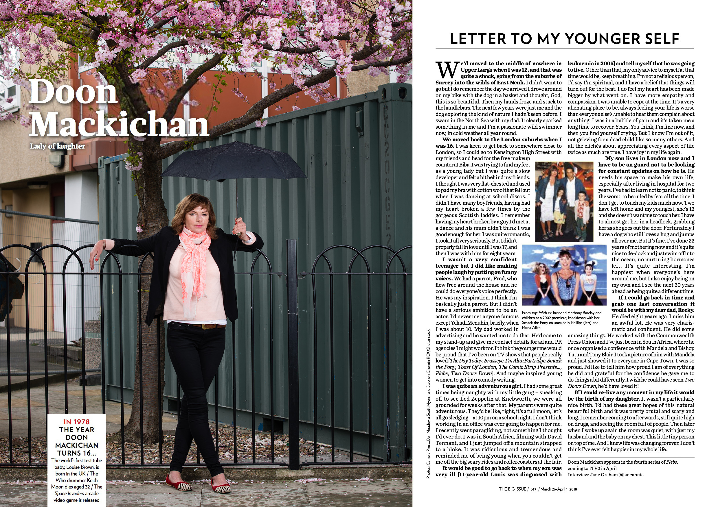 Doon Mackichan for the Big Issue